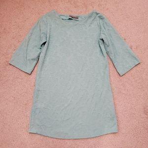 3/4 sleeve dress turquoise blue green